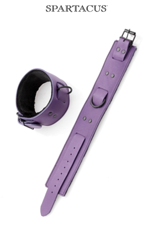 Bracelets pour chevilles en cuir violet - Spartacus