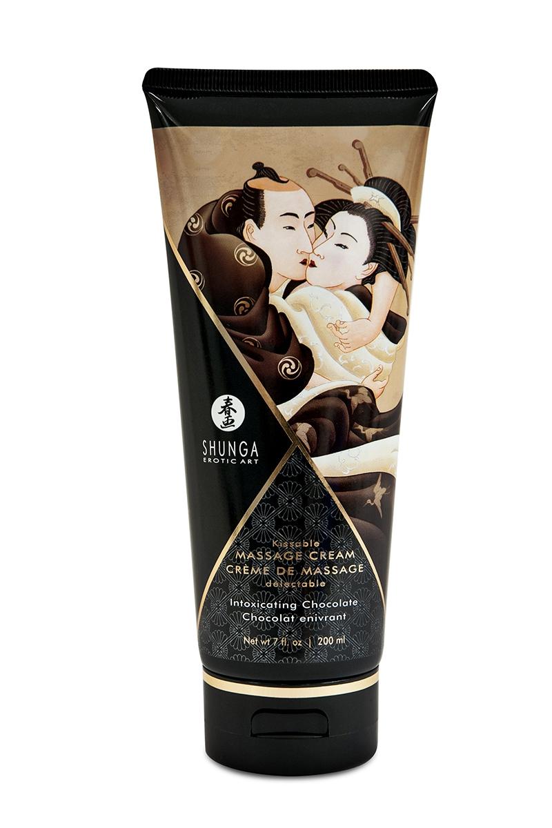Crème de massage délectable chocolat -  Shunga
