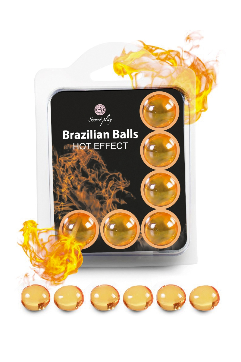 Boules lubrifiantes 6 Brazilian Balls effet chaleur - Secret Play