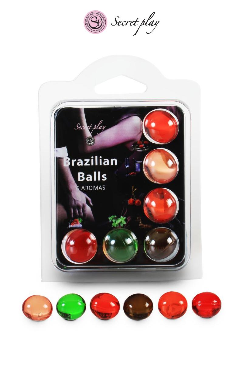 Boules lubrifiantes 6 Brazilian Balls lubrifiantes comestibles - Secret Play