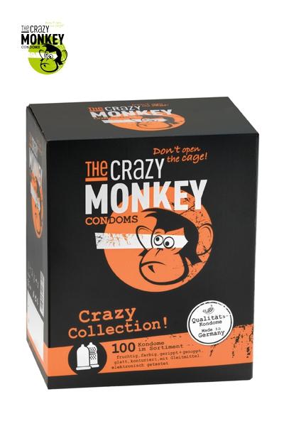 Assortiment 100 Préservatifs - Crazy Monkey