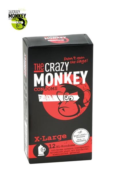 Boite 12 Préservatifs XL - Crazy Monkey