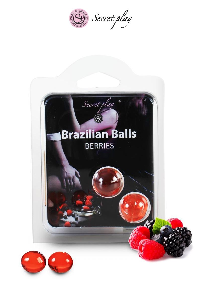 2 boules lubrifiantes aux baies rouges de la marque Secret Play, oohmygod