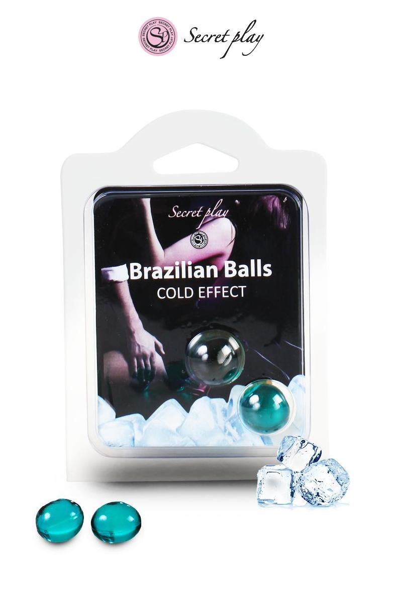 2 boules lubrifiantes de chez Secret Play qui se dissolvent grâce à la chaleur du corps. Une fois transformé en lubrifiant, les boules libèrent un effet de fraîcheur, oohmygod