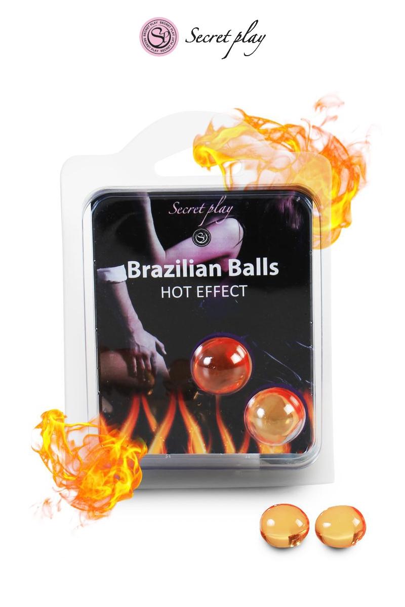Boules lubrifiantes 2 Brazilian Balls effet chaleur - Secret Play