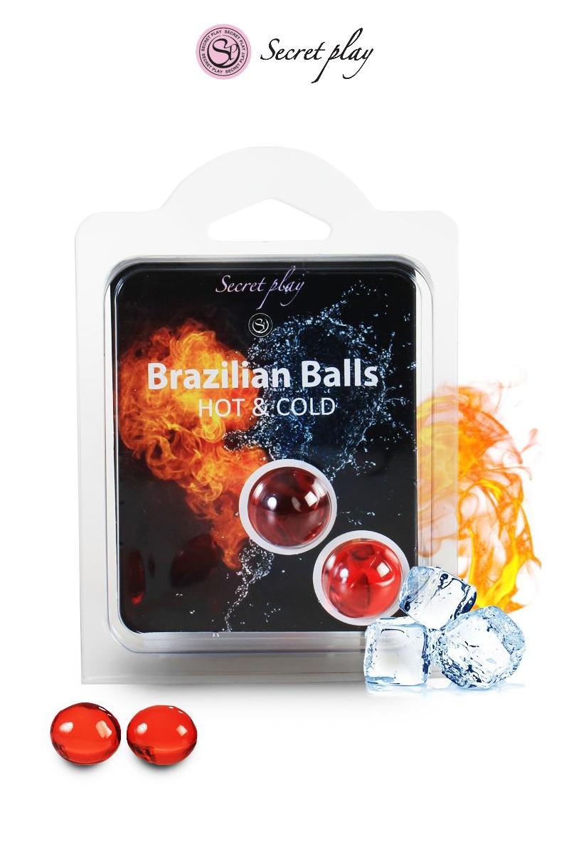 Boules lubrifiantes 2 Brazillian balls effet chaud et froid - Secret play
