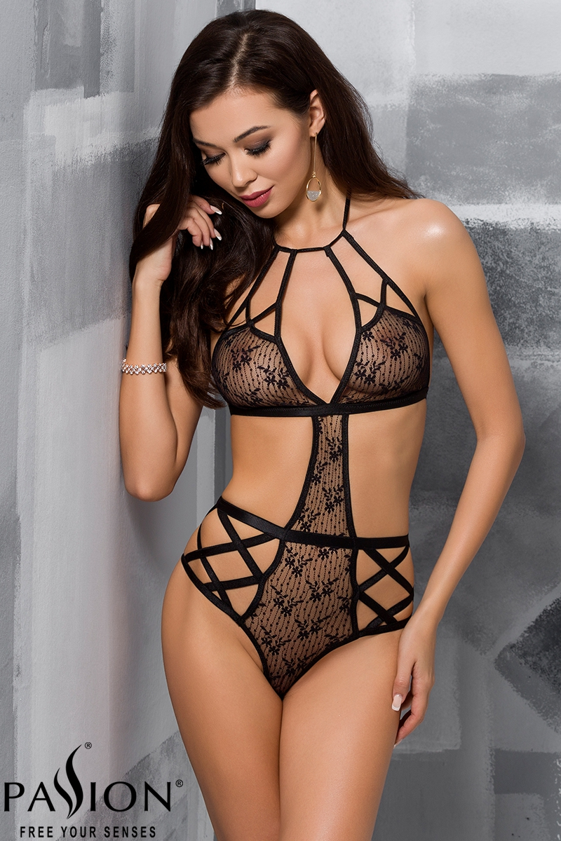 Body Jade fendu en dentelle transparente