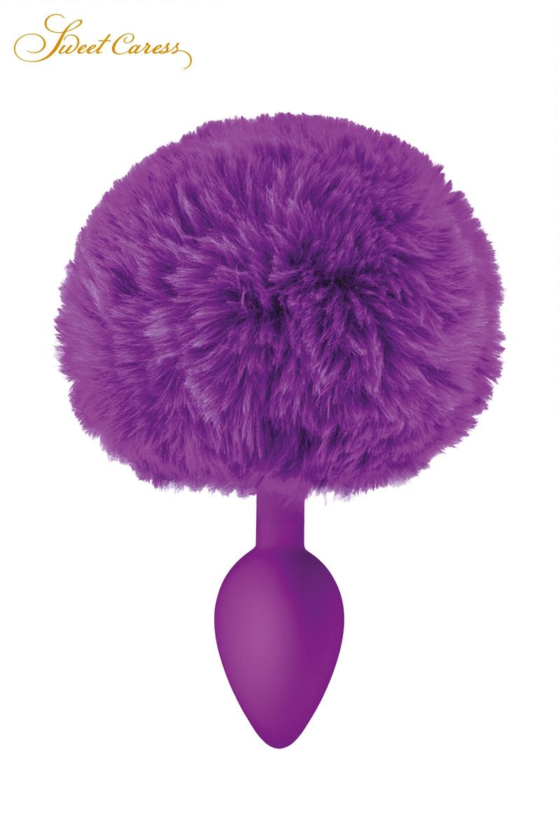 Plug anal violet queue de lapin - Sweet Caress