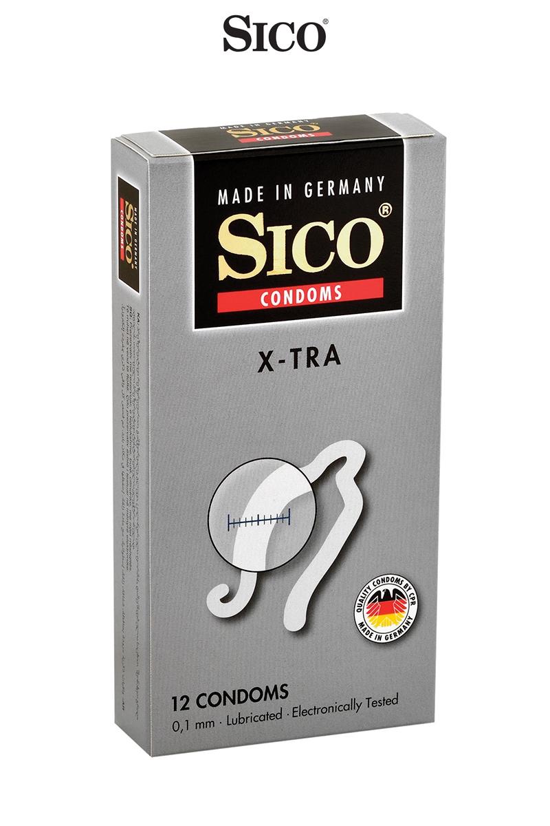 12 préservatifs épais X-TRA -  Sico