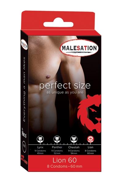 8 Préservatifs Perfect Size Lion - Malesation