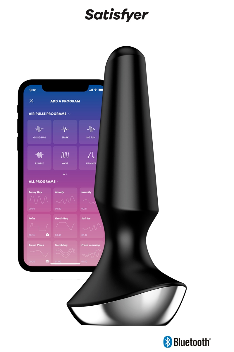 Plug anal Ilicious 2 noir de chez Satsifyer, plus vibrant puissant et cinnecté via l'application gratuite dédiée sur smartphone - oohmygod