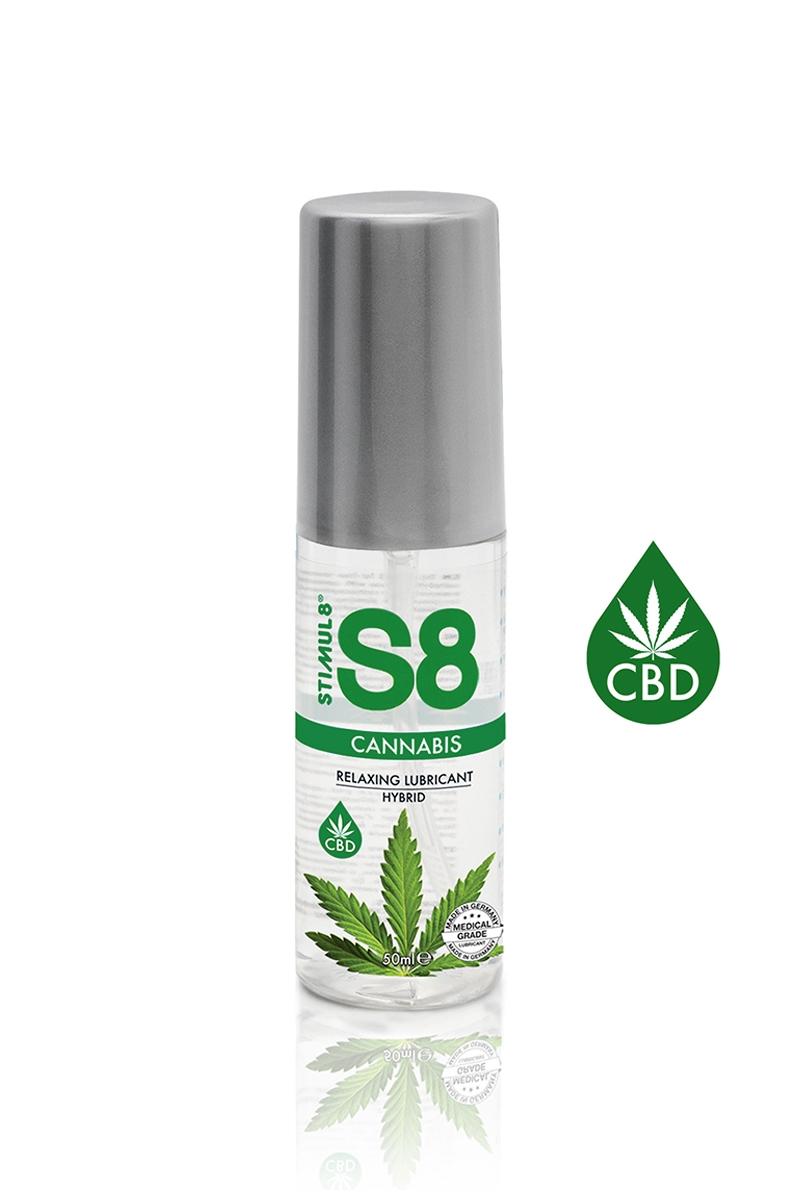 Lubrifiant hybride au CBD de la marque S8, formule à base d'eau et de silicone, comptaible avec les préservatifs, 50ml - oohmygod