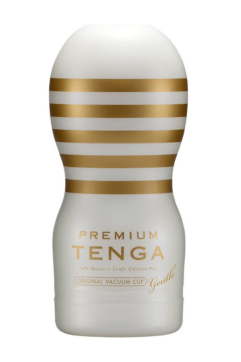 Masturbateur Premium Original Vacuum Gentle de la marque Tenga, offre les sensations d'une fellation - oohmygod
