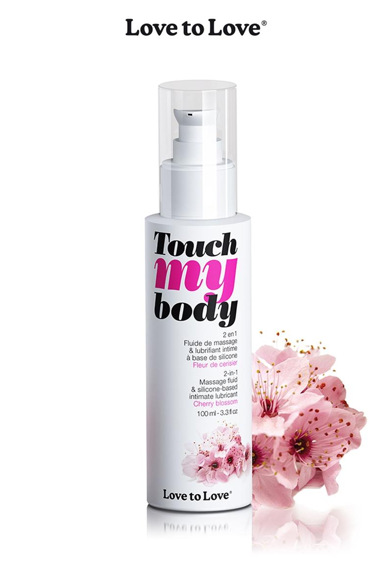 Fluide de massage et lubrifiant Touch My Body fleur de cerisier - Love to Love