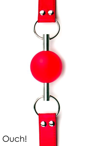 Bâillon SM en cuir rouge Solid Ball Gag - Ouch!
