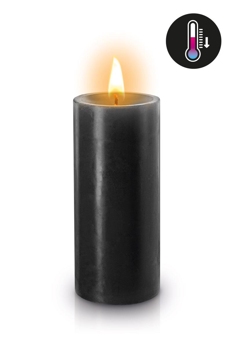 Bougie noire BDSM basse température de la marque fetish Tentation, idéale pour vos jeux BDSM - oohmygod