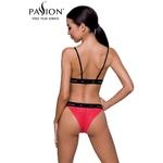 Vue de dos de lensemble rouge et noir Glamis de chez Passion lingerie - oohmygod