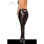 vue arrière Leggings sexy noir ajouré de la marque Noir handmade, du S au 3XL - oohmygod