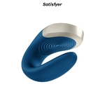 Stimulateur bleu Double love de chez Satisfyer - oohmygod