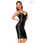 Robe longue sexy et moule F180 de chez Noir Handmade, coupe tendance et sensuelle avec un zip discret à l'arrière pour la mettre facilement, vendu chez oohmygod