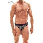 slip gris homme style bucheron vue de devant, tissu extensible et doux