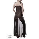 déshabillé 2 pièces de la marque Grey Velvet, composé dune robe nuisette, dun string assorti et dune paire de bas - oohmygod