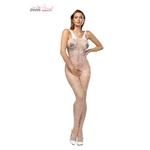Combinaison blanche en résille Biance de la marque Anais Apparel, lingerie érotique et sensuelle pour un look sexy - oohmygod