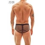 Shorty noir transparent Eros Anais for Men en fine maille extensible et transparente, du S au 3XL vendu chez oohmygod