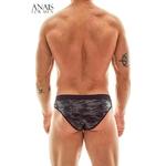 Vue arrière du slip militaire electro de la marque Anais for Men - oohmygod