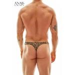 vue arrière du string pour homme à motif léopard de la marque Anais for Men - oohmygod