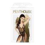 Boite de lensemble Best Foreplay de Penthouse, composé dun body et dune jupe longue - oohmygod