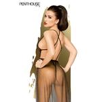 vue de dos du body et de la jupe sexy Best Foreplay de la marque Penthouse, ensemble transparent et sexy à bas prix - oohmygod