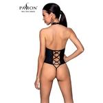 Vue arrière du Body ouvert en simili cuir Nancy de la marque Passion Lingerie - oohmygod