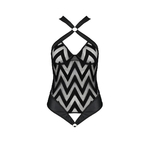 Body transparent et en cuir Hima de la marque Passion Lingerie, taille S au 3XL - oohmygod