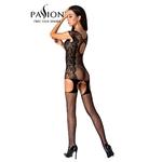 Combinaison BS082 en résille et en dentelle de la marque Passion Lingerie, ouverte sur les parties intimes et peut être porté sous vos tenues préférées - oohmygod