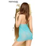 Nuisette sexy pas chère bleue intense Bedtime Story de la marque Penthouse, strin assorti fourni - oohmygod