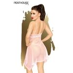 Vue arrière de la nuisette Naughty Doll rose pâle de la marque Penthouse - oohmygod