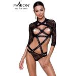 Body seins nus Leticia de la marque Passion Lingerie, body sexy en dentelle et à sangles élastiques - oohmygod