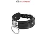 Collier BDSM de la marque Fetish Tentation, acoompagné d'un anneau pour y fixer une laisse ou des contraintes - oohmygod