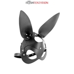 Masque Bunny de Fetish Tentation, masque en faux cuir et aux oreilles de lapin - oohmygod