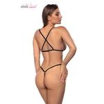 Body transparent à motifs étoilés Stevie, ouvert dans le dos, lingerie sexy et érotique - oohmygod