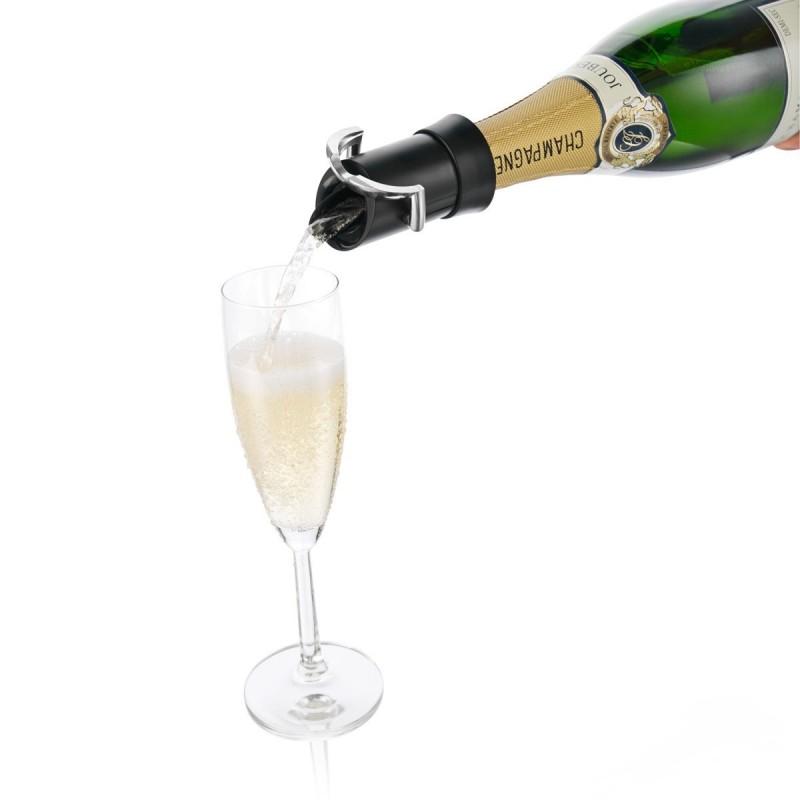 bouchon-verseur-et-conservateur-noir-pour-bt-de-champagne vacuvin