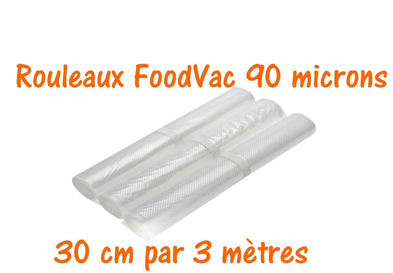 rouleaux foodvac 30 cm par 3 mètres