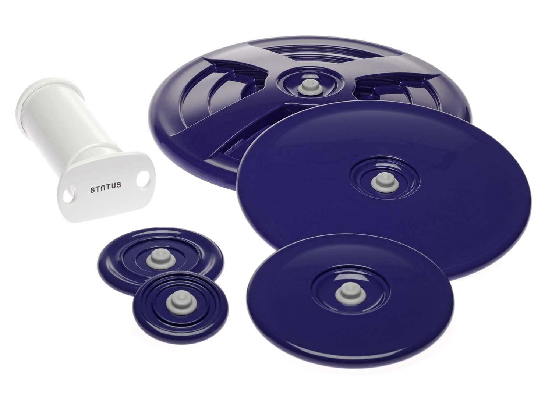 lot de 5 couvercles adaptables sur casseroles pots. Black Bedroom Furniture Sets. Home Design Ideas