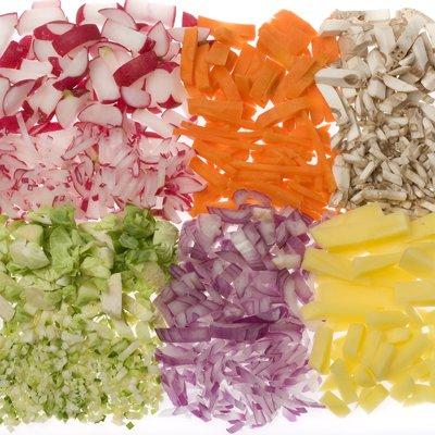légumes coupés