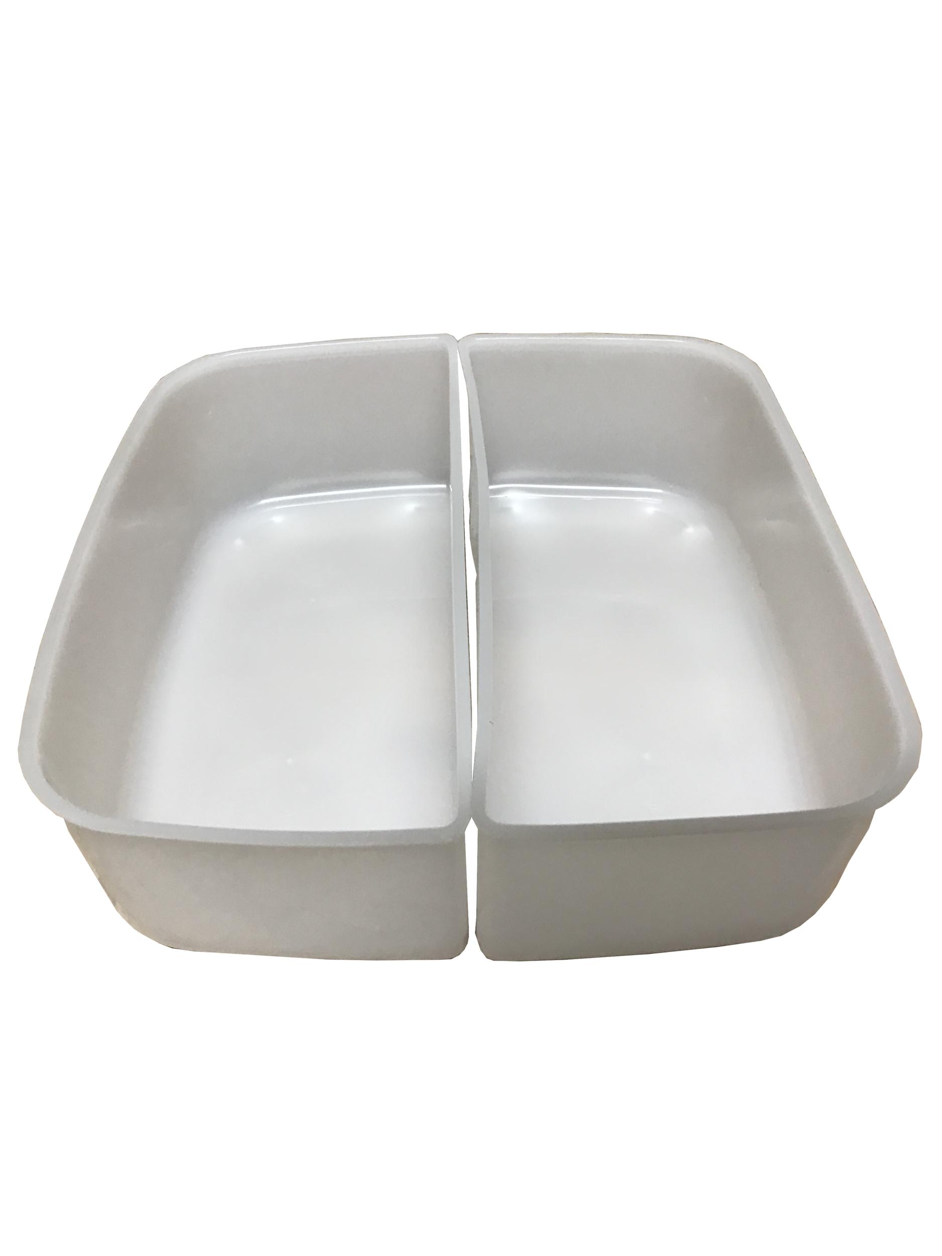 2 bacs séparateurs pour boite carrée status 2 litres