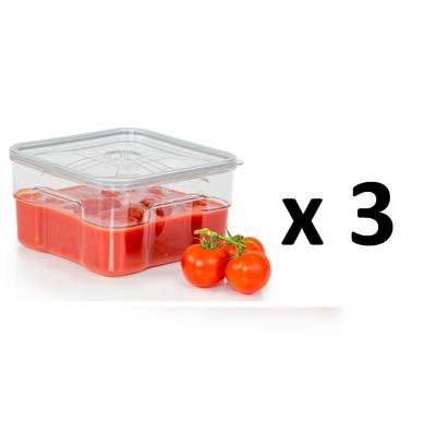 Lot de 3 boites sous vide Gastro Pro 4 litres