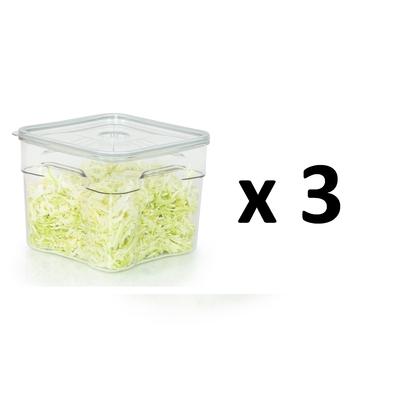 Lot de 3 boites sous vide Gastro Pro 6 litres