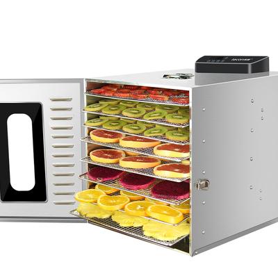 Deshydrateur Inox 8 grilles de 28,5/20 cm à commande digitale 400W. Port Offert ! Garantie jusqu'à 7 ans !