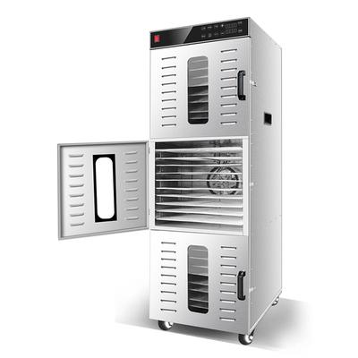 Deshydrateur Inox Professionnel 30 grilles de 40/38 cm à commande digitale 2400W. (3 portes & 3 moteurs ; commande par compartiment). Port offert ! Extension de garantie jusqu'à 7 ans !